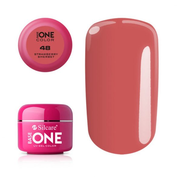 Silcare Base One Color, Strawberry Sherbet 48#