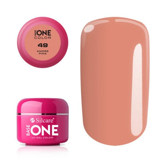 Silcare Base One Color, Amore Pink 49#