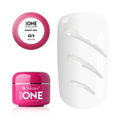 Silcare Base One Paint gel, díszítő zselé, White 01#