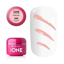 Silcare Base One Paint gel, díszítő zselé, Delicate Pink 02#