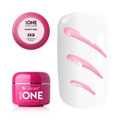 Silcare Base One Paint gel, díszítő zselé, Medium Pink 03#