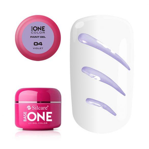 Silcare Base One Paint gel, díszítő zselé, Violet 04#
