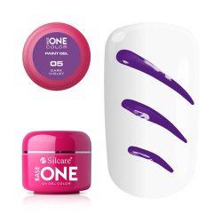 Silcare Base One Paint gel, díszítő zselé, Dark Violet 05#