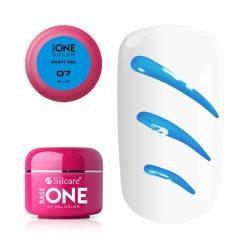 Silcare Base One Paint gel, díszítő zselé, Blue 07#