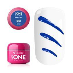 Silcare Base One Paint gel, díszítő zselé, Dark Blue 08#