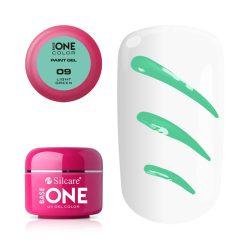 Silcare Base One Paint gel, díszítő zselé, Light Green 09#