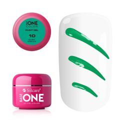 Silcare Base One Paint gel, díszítő zselé, Dark Green 10#
