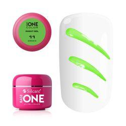 Silcare Base One Paint gel, díszítő zselé, Green 11#