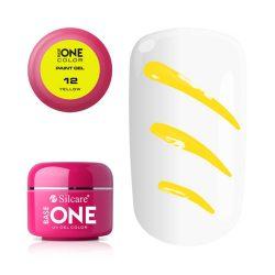 Silcare Base One Paint gel, díszítő zselé, Yellow 12#