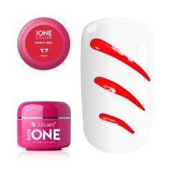 Silcare Base One Paint gel, díszítő zselé, Red 17#