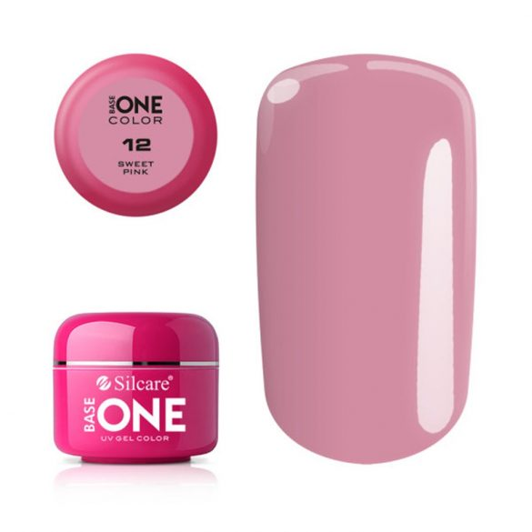 Silcare Base One Color, Sweet Pink 12#