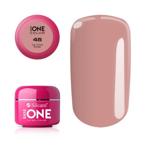 Silcare Base One Color, La Viva Pink 45#