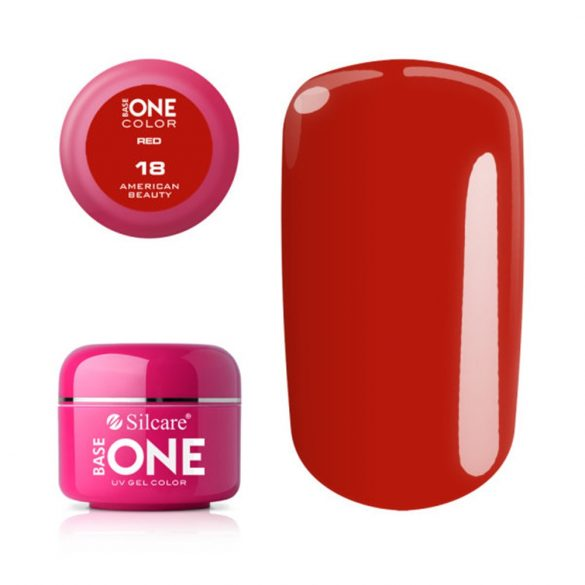 Silcare Base One Red, American Beauty 18#