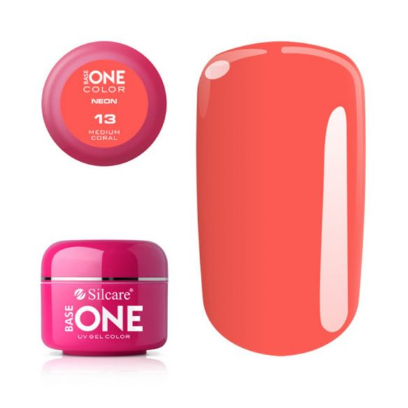 Silcare Base One Neon, Medium Coral 13#
