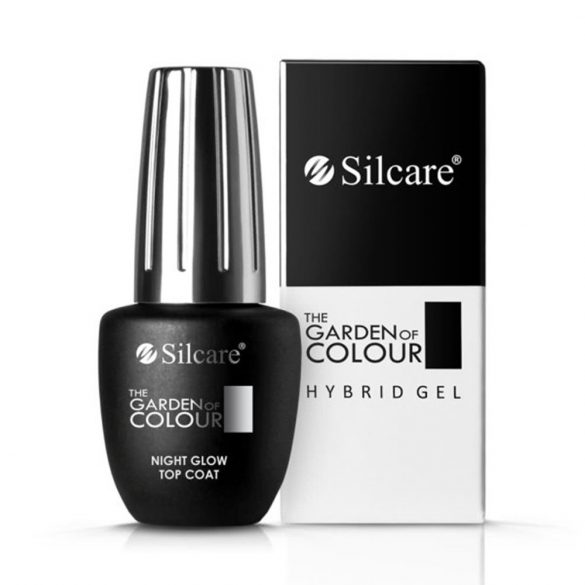 Silcare Night Glow Top Coat, világító fedő lakk