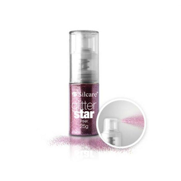 Glitter Star Spray 25g, Pink