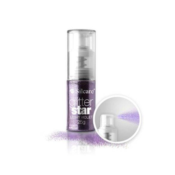 Glitter Star Spray 25g, Light Violet