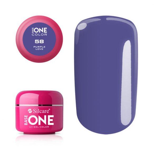 Silcare Base One Color, Purple Love 58#