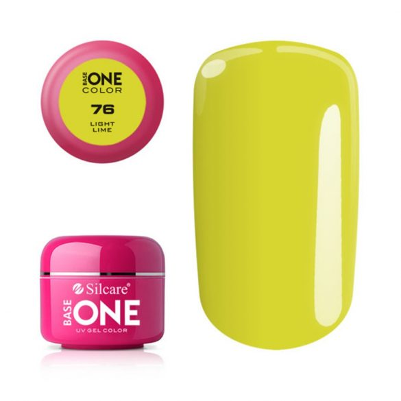 Silcare Base One Color, Light Lime 76#