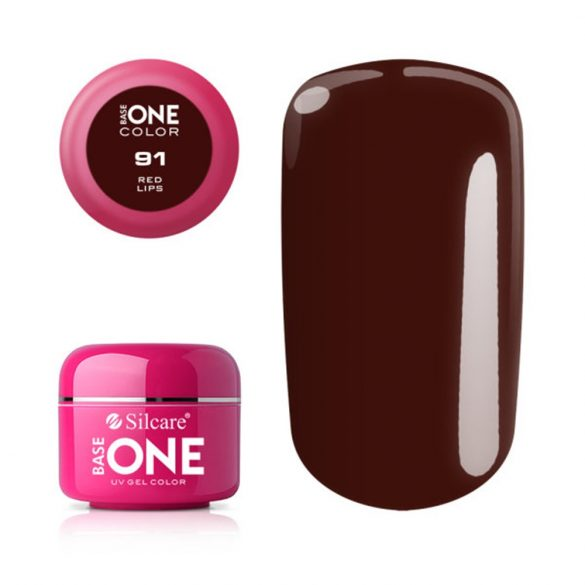 Silcare Base One Color, Red Lips 91#