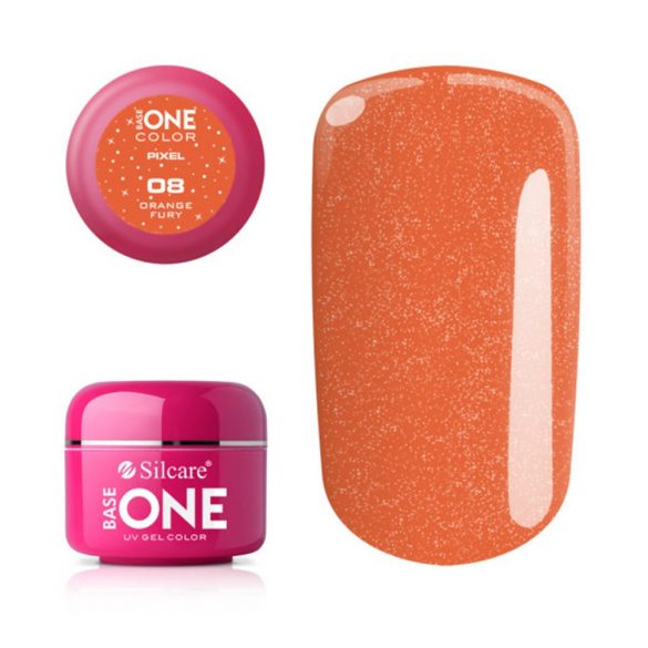 Silcare Base One Pixel, Orange Fury 08#