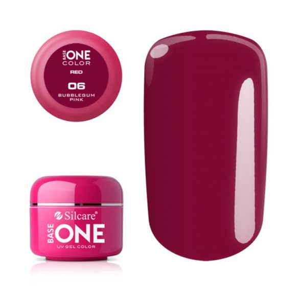 Silcare Base One Red, Bubblegum Pink 06#