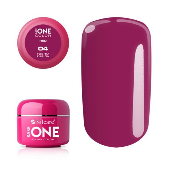 Silcare Base One Red, Fuchsia Fusion 04#