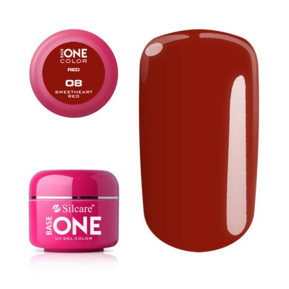 Silcare Base One Red, Sweetheart Red 08#